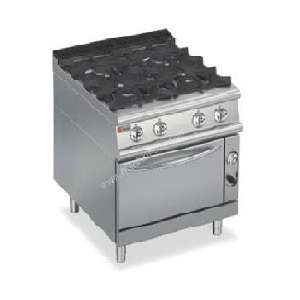 Four Burner Gas Range On Gas Oven