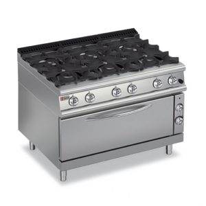 Six Burner Gas Range On Gas Wide Oven