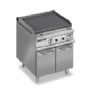 Gas Char Grill (Lava Rock Grills on Cupboard)